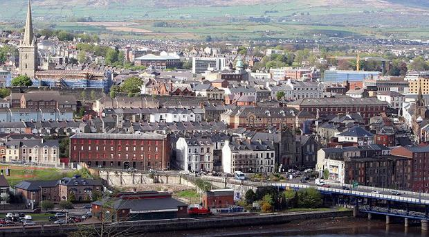 Police sealed off part of Londonderry city centre following an explosion