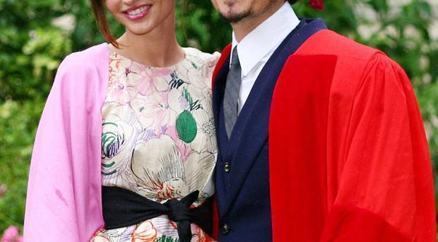 Orlando Bloom's wife Miranda Kerr has been showing off the couple's new baby
