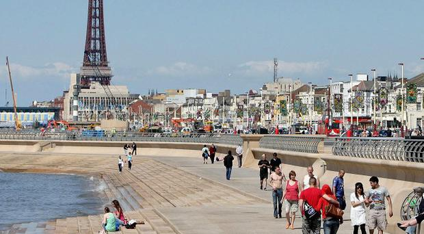 Blackpool visitors are having to contend with some of the worst road conditions in the UK