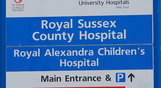 A two-year-old boy is being treated at a hospital in Brighton after being mauled by his family's pet dog