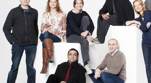 Sarah Winman, pictured in the back row third from left, played Davina MacKenzie in Holby City