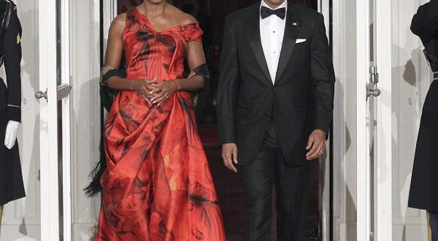 US first lady Michelle Obama and president Barack Obama