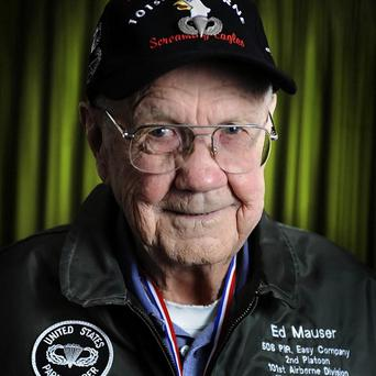 Ed Mauser, a member of the Band of Brothers, has died aged 94 (AP)
