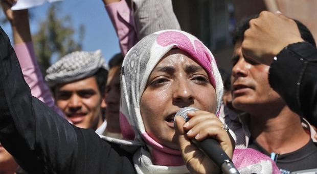 Yemeni activist Tawakul Karman, who has been arrested by police amid anti-government demonstrations