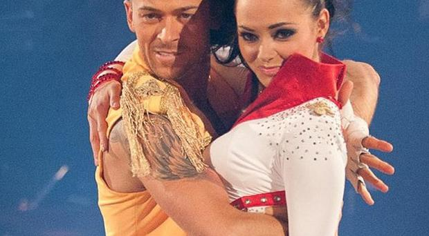 Kara Tointon and Artem Chigvintsev taking part the Strictly Come Dancing final