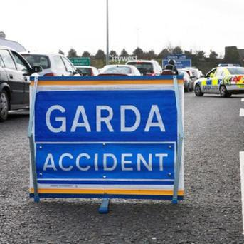 Three men were killed in an overnight crash when their car collided with a HGV