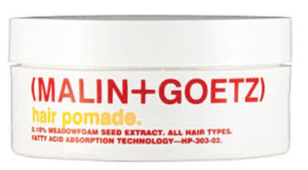 <b>(Malin+Goetz) Hair Pomade</b><br/> New-school pomades have far less wax in them and are therefore easier to apply - and, more importantly, easier to wash out.<br/> <b>Where</b> Liberty (www.liberty.co.uk) <br/> <b>How much</b> £15 (100ml)
