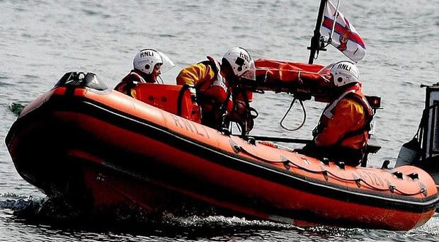 A man has been rescued after his canoe capsized off the Co Down coast