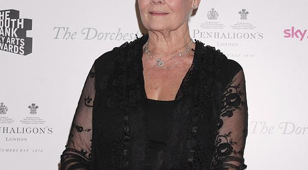 Dame Judi Dench won an outstanding achievement prize at the South Bank Sky Arts Awards