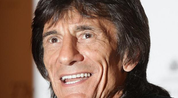 Ronnie Wood says relations are good with his ex-wife Jo
