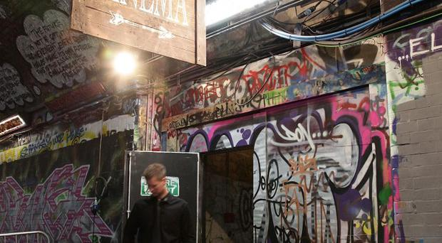 The Oscar-nominated Banksy film Exit Through The Gift Shop had a fitting venue when it premiered in the UK