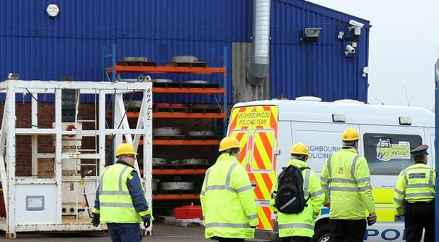 Four men who died at a Claxton Engineering site in Great Yarmouth were asphyxiated, police said