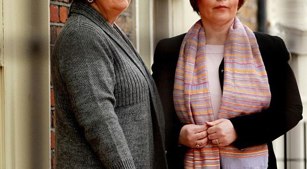 Marie Reaburn, left, and Patient Focus's Catriona Molloy are seeking justice for Michael Neary's patients