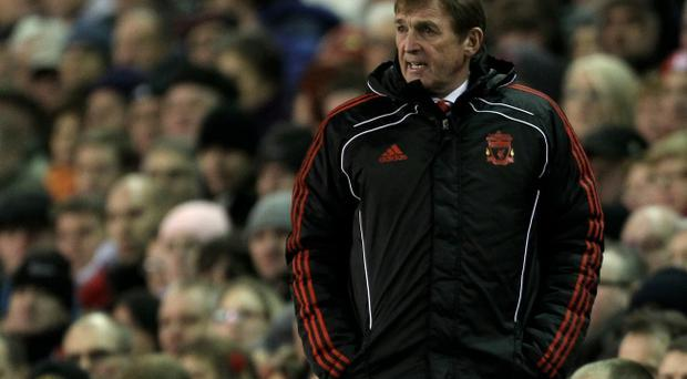 Liverpool Manager Kenny Dalglish reacts during the Barclays Premier League match between Liverpool and Fulham at Anfield on January 26, 2011 in Liverpool, England.