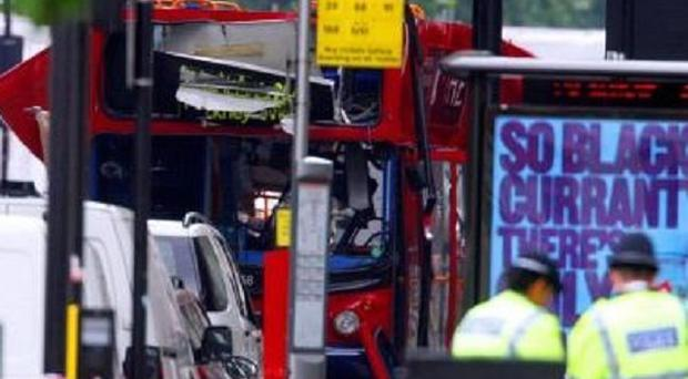 The bus hit by the Tavistock Square 7/7 bomb