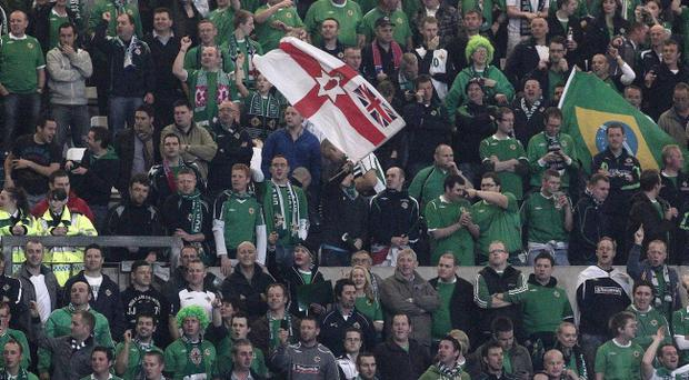 Northern Ireland will be backed by some 5,000 fan in Dublin, but most of the Aviva Stadium's 50,000 seats will be empty.