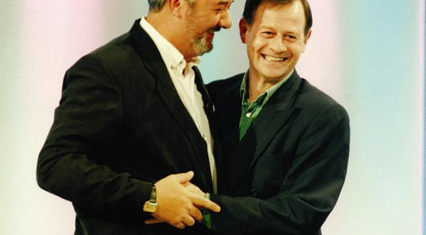 John Virgo and Alex Higgins