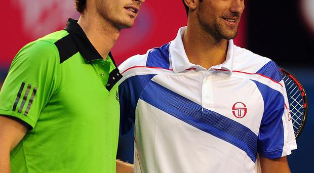 Andy Murray (left) has been beaten by Serbia's Novak Djokovic in the Men's Final of the 2011 Australian Open