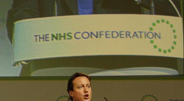 David Cameron speaks to delegates at the NHS Confederation conference