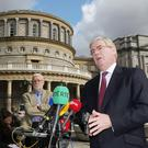 Labour Leader Eamon Gilmore has said he will use 500 million euro to create jobs if his party wins the general election