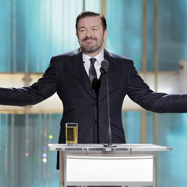 Ricky Gervais during the 68th Annual Golden Globe Awards in Beverly Hills last month