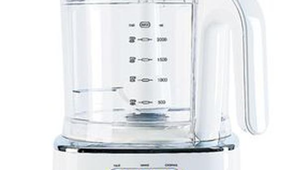 <b>1. Lakeland </b><br/> Ideal for smaller kitchens, this food processor is neat and compact. It automatically adjusts its speed to suit the task in hand and the mini-bowl is good for chopping the likes of onions without messing up the larger bowl.<br/> £102.99<br/> lakeland.co.uk