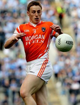Charlie Vernon will have a vital role in the middle third of the park for Armagh