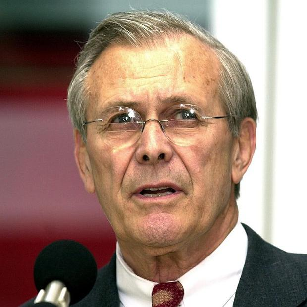 Donald Rumsfeld said his biggest mistake in the Pentagon was not resigning over photos of Iraqi inmates at Abu Ghraib prison