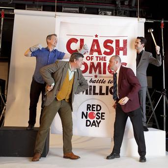 Frank Skinner, Stephen Fry, Al Murray and Jimmy Carr are raising money for Comic Relief