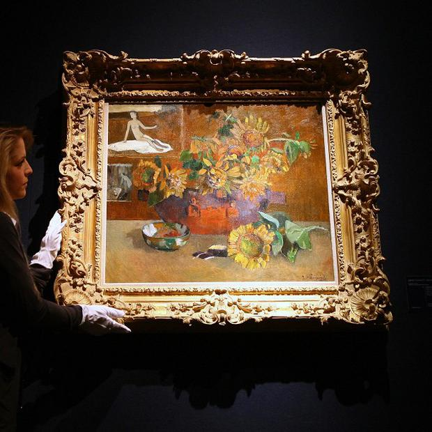 Gauguin's Nature morte a 'L'Esperance has gone on display ahead of its sale at Christie's