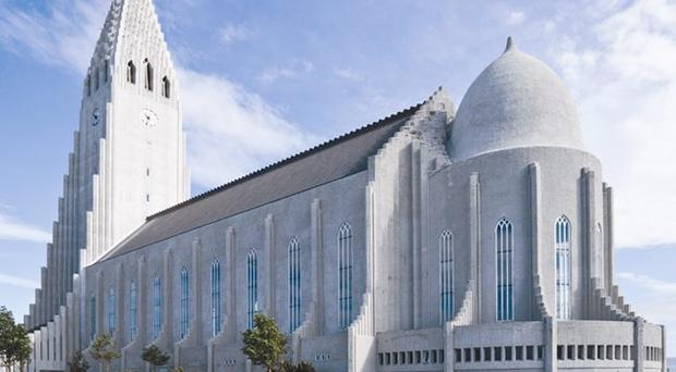 Hallgrimskirkja, the 73m-high church in Iceland's capital Reykjavik, offers fantastic cityscapes