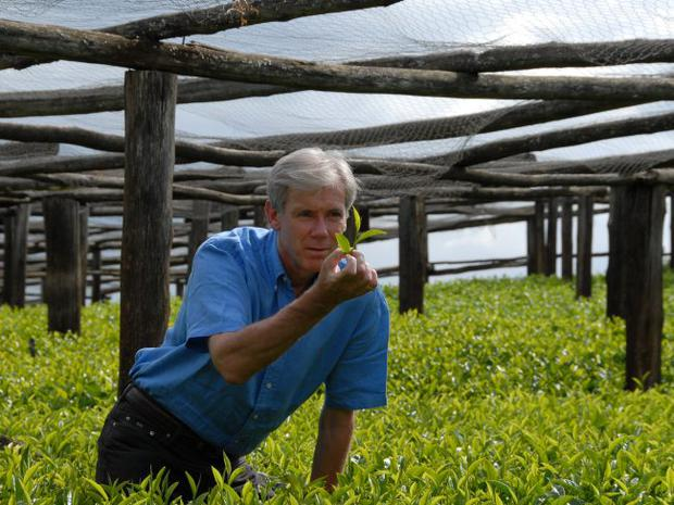 Ross Thompson checks out some tea for Punjana