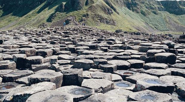 The Giant's Causeway on the north coast is a popular destination for holidaymakers