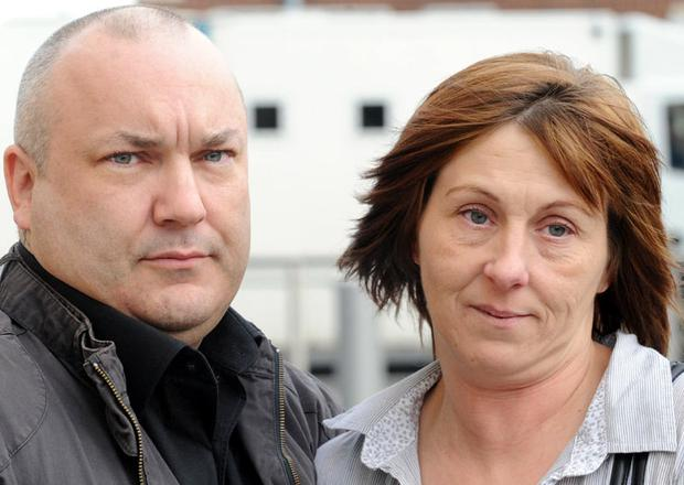 Eileen Millar and her husband Mark outside Belfast Crown court