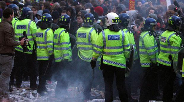 Scotland Yard was caught out by the large scale of student protests last November