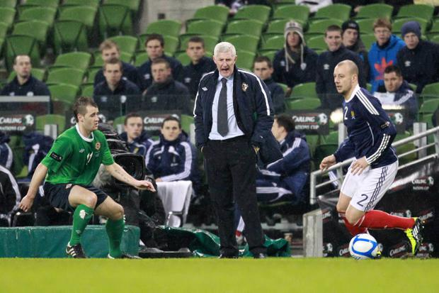 9/2/11Mandatory Credit Darren Kidd/Presseye.comCarling Nations Cup Scotland v Northern Ireland, Aviva Stadium, Dublin.Northern Ireland manager Nigel Worthington