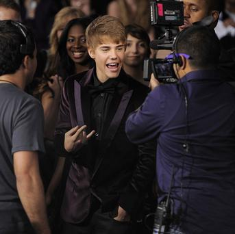 Justin Bieber at the premiere of his new film in Los Angeles