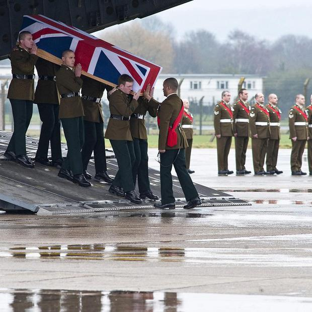 The repatriation ceremony of Ranger David Dalzell, of 1st Battalion The Royal Irish Regiment