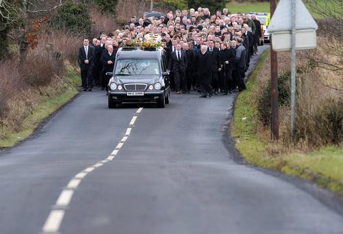 The funeral of Brendan McAleese who died in last week's plane crash at Cork Airport