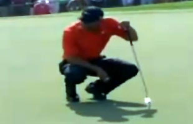 Crouching Tiger spitting golfer
