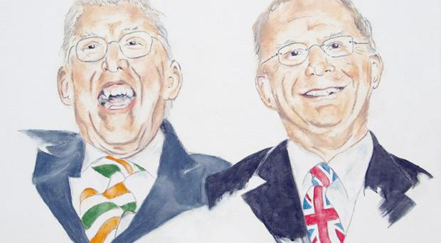 Keith Drury's painting of former First Minister Ian Paisley and deputy First Minister Martin McGuinness