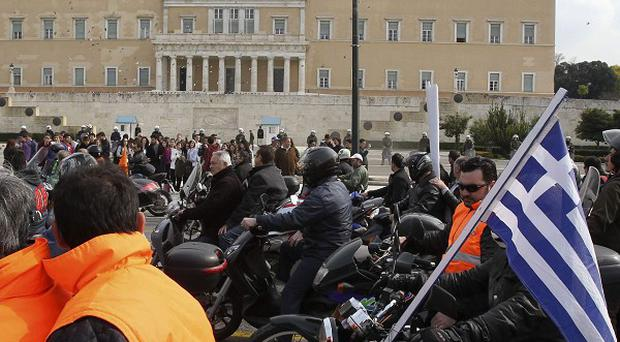 Greek transport workers are staging a strike in Athens
