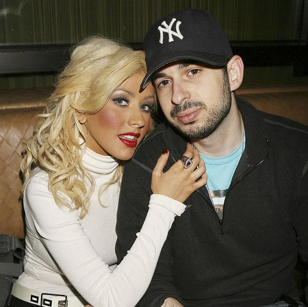 Christina Aguilera and Jordan Bratman pictured in 2007 (AP)