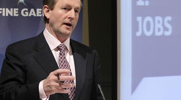 Fine Gael leader Enda Kenny launches his party's General Election manifesto in Dublin