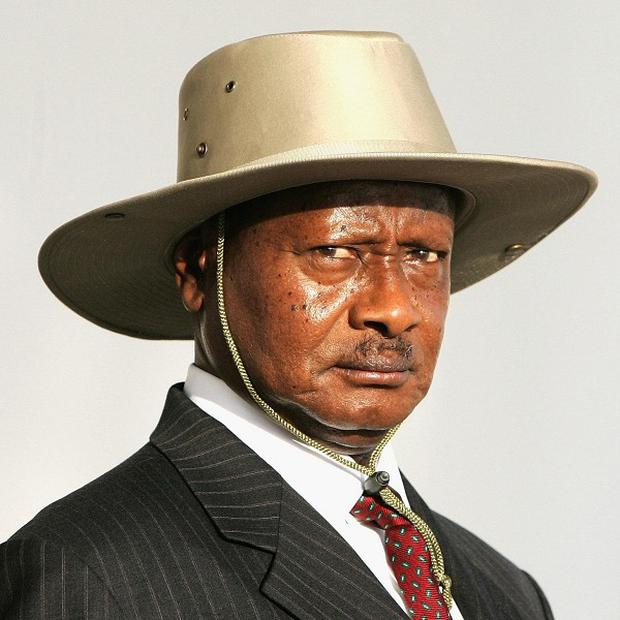 Ugandan president Yoweri Museveni has a huge lead over his rival in the presidential election