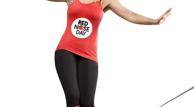Blue Peter presenter Helen Skelton, who will complete a high wire challenge to raise money for Comic Relief (BBC)