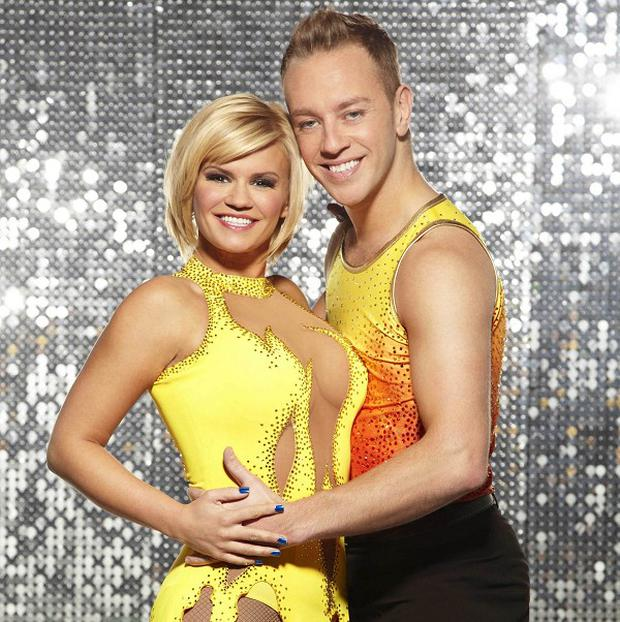 Kerry Katona with ice dancing partner Dan Whiston