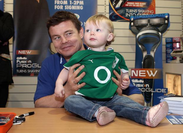 Brian O'Driscoll met up with some of his youngest fans at Gordons Chemists store at Cornmarket Belfast when he was in town to launch the Gillette Fusion ProGlide razor