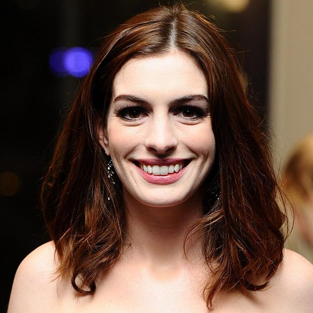 Anne Hathaway is busy preparing for the Oscars