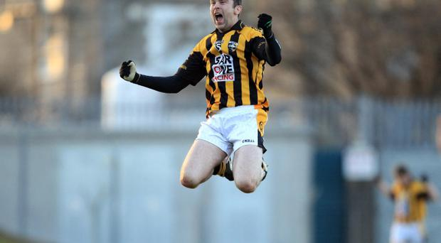 Oisin McConville of Crossmaglen celebrates his side's victory at the final whistle yesterday